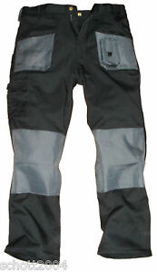 Blackrock-Mens-Cargo-Combat-Work-Wear-Trousers-Pants-Knee-Pad-Pockets-Black