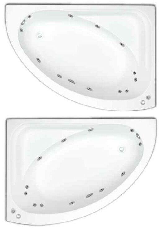 Miami 12 Jet Whirlpool Bath | Offset Corner Design | White Acrylic | Jacuzzi Spa