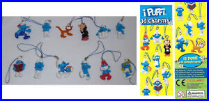 RARE-and-NICE-SET-12-Cute-Figures-SMURFS-Smurf-DANGLERS-Original-ITALY-2011-Look