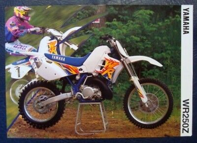 YAMAHA WR 250 Z MOTORCYCLE SALES SHEET 1994 (FRENCH).