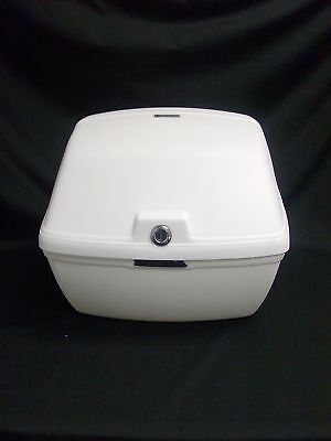 2013 Metropolitan Scooter White Rear Trunk With Luggage Rack & Mount 13