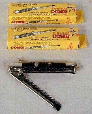 24 Switch Blade Combs Joke Knife Novelty Joke Item Gags Play Toy Comb Novelties