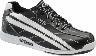 Dexter Men Jack Black & White Bowling Shoes Wide Width