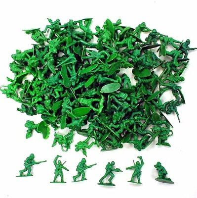 144 Toy Army Soldiers Military Men Play Action Figures Green Plastic Soldier Toy