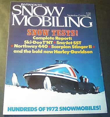 1972 AMF HARLEY-DAVIDSON SNOWMOBILE BROCHURE 6 PG AD