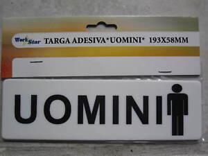 Targa cartello targhetta adesiva toilette bagno uomini in - Cartello bagno donne ...