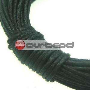 20m Black Waxed Cotton Cord/String 1mm TC0026