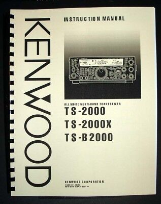 KENWOOD TS-2000 TS-2000X TS-B2000 Manual