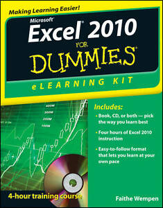 NEW Excel 2010 eLearning Kit For Dummies by Faithe Wempen