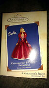 Hallmark Celebration Barbie Ornament 2002