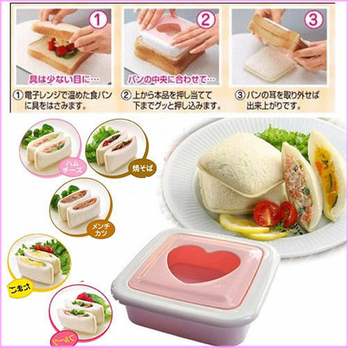 Heart Shape Sandwich Bread Maker Mold Cutter ...