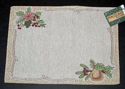 Pfaltzgraff Garland Spruce Christmas Holiday Tapestry Placemat