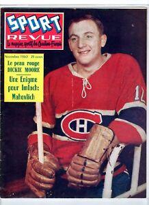 1960-Nov-Sport-Revue-magazine-Hockey-Dickie-Moore-Montreal-Canadiens