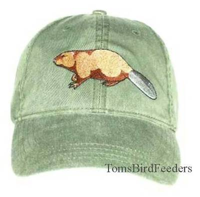 Beaver Embroidered Cotton Cap Hat