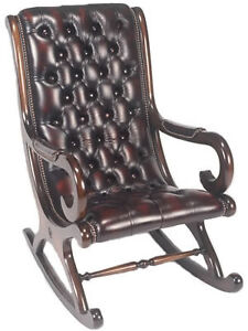 chesterfield rocking chair ebay. Black Bedroom Furniture Sets. Home Design Ideas