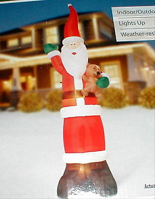 9' Foot Airblown Inflatable Christmas Holiday Santa
