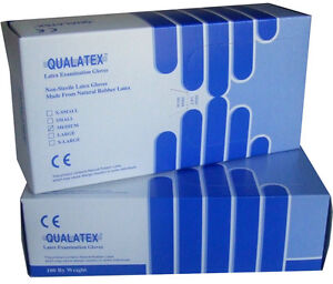 Disposable Latex Examination Gloves Box of 100 Size L