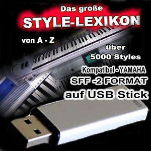 5000 Styles Yamaha kompatibel Tyros 3 auf USB Stick