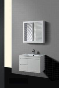 Bathroom VANITY UNIT Cabinet Wall Hung with WHITE China BASIN top New WD 750