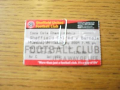 24/02/2009 Ticket: Sheffield United v Barnsley  (Crease