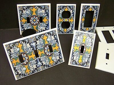 Mexican Talavera Tile 3 Image Light Switch Cover Plate Plastic