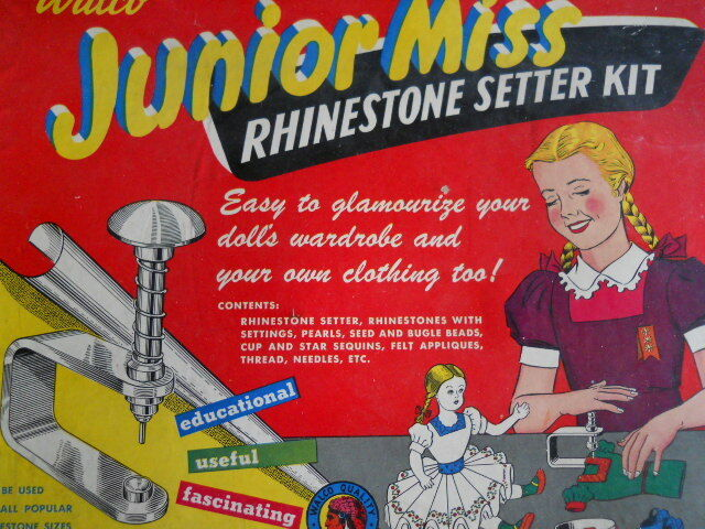 Vtg Junior Miss 1955 Walco Rhinestone setter kit as-is
