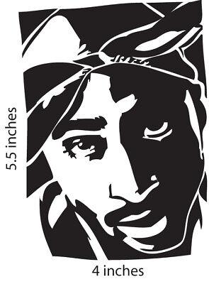 2 Tupac Shakur Stickers Cut Vinyl Decal 2pac Makaveli Digital Underground