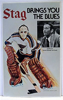 Stag Beer 1970's St Louis Blues Hockey Player Brochure