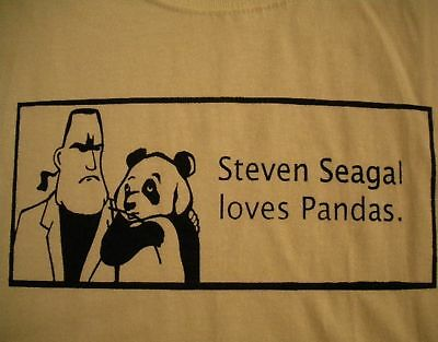 Steven Seagal Loves Pandas Shirt American Apparel