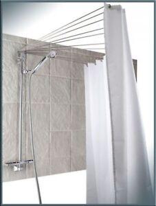 Rideau de douche araign e de rideau de douche douche pliante 12 bras inox ebay - Rideau de douche angle ...