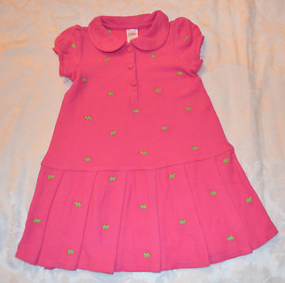 Gymboree Turtle Match Pink Polo Dress 4t 5t