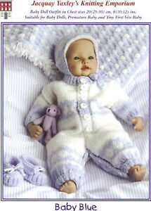 Jacquay Yaxley - Knitting Pattern - Baby Doll Clothes - Premature Baby -