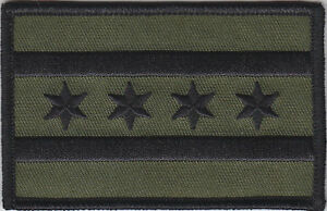 Chicago-Flag-Illinois-police-Patch-SUBDUED-GREEN-BLACK