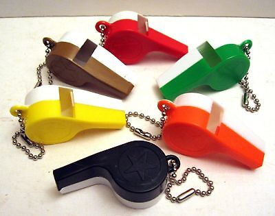8 Whistle Keychain 2 Color Gumball Vending Machine Toy