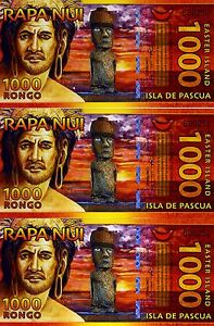 LOT-Easter-Island-3-x-1000-Rongo-2011-Polymer-UNC