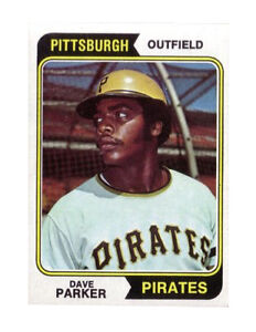 1974 Topps Dave Parker Pittsburgh Pirates 252 Baseball Card