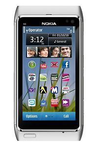 Nokia N Series N8 - 16GB - Silver white ...