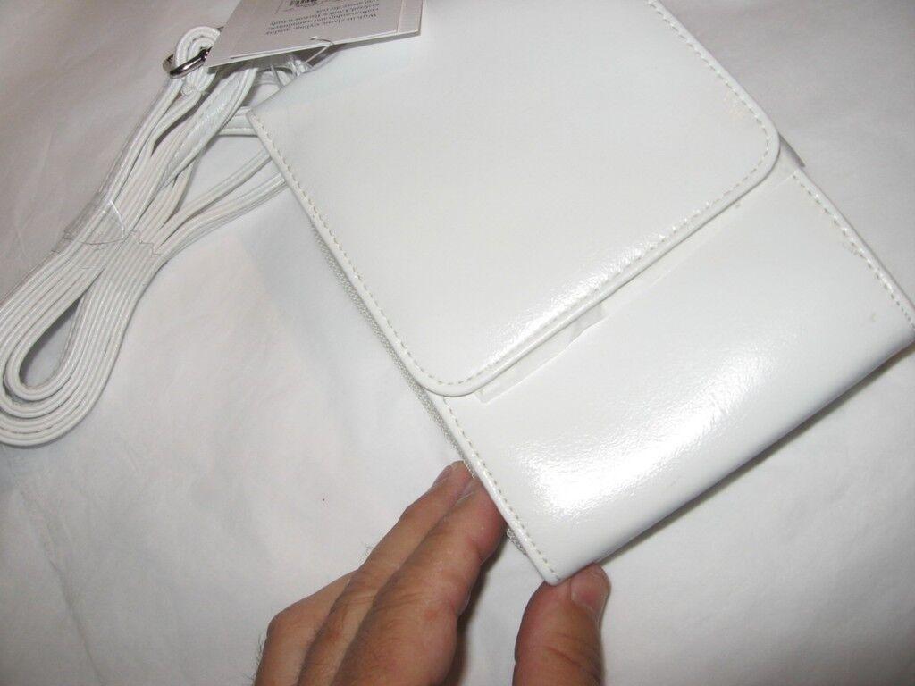 Croft & Barrow White Mini Bag/wallet On A String