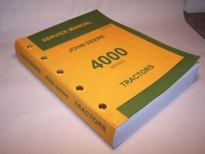 JOHN-DEERE-4020-4010-4000-TRACTOR-SERVICE-TECHNICAL-MANUAL-REPAIR-SHOP-NEW-PRINT