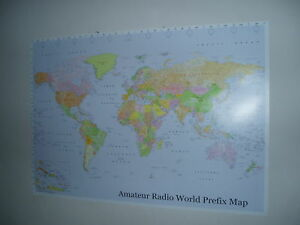 Amateur-Radio-World-Prefix-Map-Ham-39-x-27
