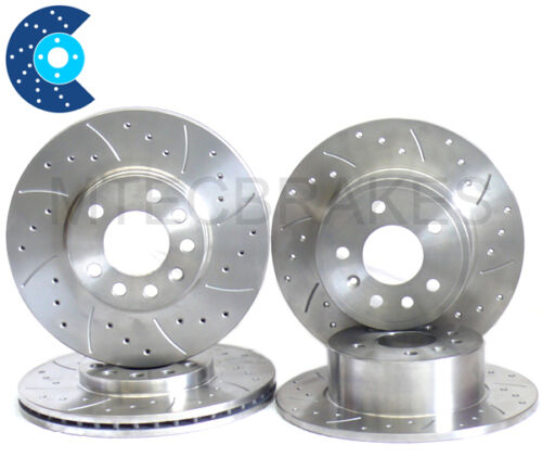 Lexus IS200 IS300 Drilled Grooved Brake Discs Front Rear NEW