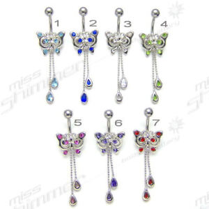 BUTTERFLY-BELLY-BAR-MULTI-CZ-GEM-BUTTERFLY-NAVEL-BAR