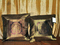 Moroccan Decor Silk Saree Curtains and Cushion Covers
