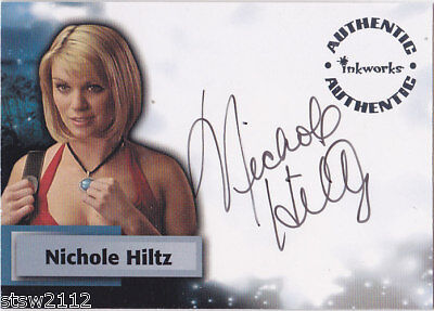 SMALLVILLE Mellow 5 A44 NICHOLE HILTZ SIMONE AUTOGRAPH