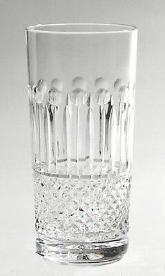 BOX 6 HAND CUT GLASS ELITE HIBALL TUMBLERS 24% Lead Crystal Drinks Glasses NEW