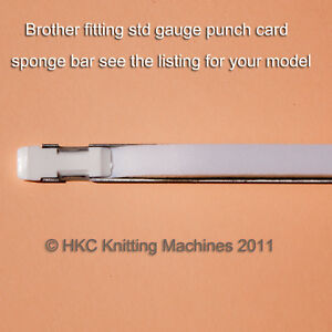 1 x MACHINE KNITTING SPONGE BAR BROTHER PUNCH CARD