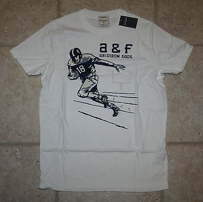 Abercrombie Boys Small Football Muscle Fit T-shirt