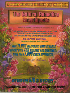 NATURAL REMEDIES ENCYCLOPEDIA~HEALING HERBS~HUGE BOOK~FAMILY HOME~ADVENTIST