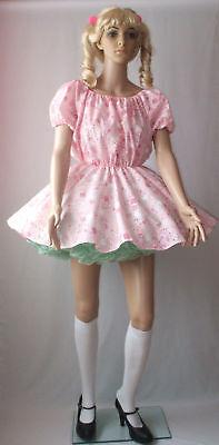 Unisex Short Adult Baby Dress Fancy Dress Sissy Bear Cosplay Lolita