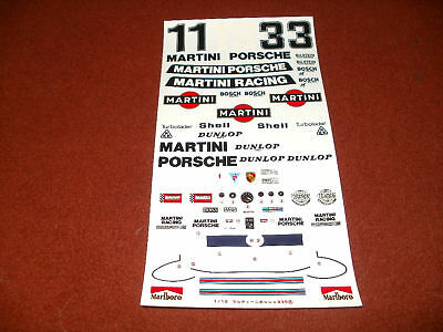 TAMIYA DECALS 1/12 MARTINI PORSCHE 935 TURBO RSR